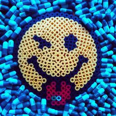 Smiley perler beads by sugareesweet