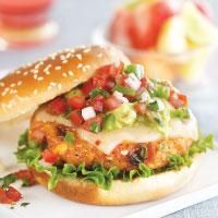 Can't decide between seafood or a burger - why choose? Tilapia Burgers with fresh guac and pico de gallo can't be beat!