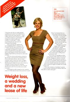 Cambridge Weight Plan Success stories who did the Plan with Dual Dynamics. http://www.cambridgeweightplan.com/consultants/19224/1/laurence-b