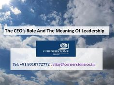 The CEO's Role And The Meaning Of Leadership  >>. Chief executive officers have a telling impact on a firm's strategy, structure and culture. Little wonder organizations today engage top #executivesearchfirms to find worthy candidates for top positions. The question as to whether how much and to what extent CEOs matter draws variable answers from scholars around the world.