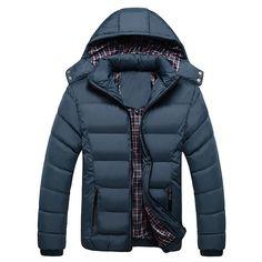 $41.50 Outdoor Waterproof Thicken Warm Rib Cuff Detachable Hood Padded Jacket For Men - NewChic