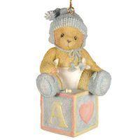 Cherished Teddies Baby Boy's First Christmas Ornament by Enesco
