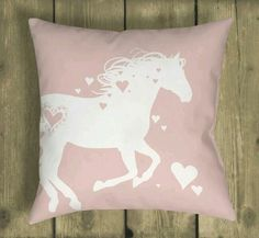 romantic pink and white heart horse Valentine's Day Equestrian throw pillow Horse Themed Bedrooms, Bedroom Themes, Girls Bedroom, Bedroom Decor, Bedroom Ideas, Horse Bedrooms, Dream Bedroom, Cowgirl Bedroom, Scrappy Quilts