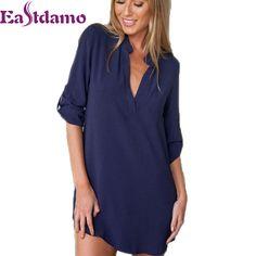2016 Женщин Sexy Шифон V Шеи Футболку Ночные Рубашки Плюс Размер Длинным Рукавом Slik Сексуальное Ночная Сорочка Пижамы Платье Сексуальная Ночная Рубашка XL