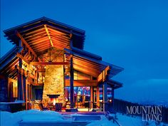 High in Montana's Yellowstone Club, a ski getaway for family and friends puts a modern spin on industrial style Yellowstone Club, Mountain Living, Mountain View, Montana Homes, Ranch Life, Winter House, Beautiful Architecture, Outdoor Rooms, Park City