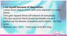 I cut myself because of depression.
