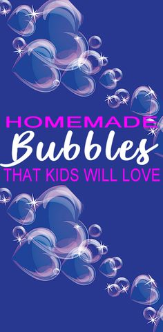 Here is the EASIEST bubble recipe ever! 2 ingredient homemade DIY bubble solution that is super simple to make and you can make with ingredients you probably already have at home. You can make DIY bubbles without glycerin for the best bubble recipe. Bubble Solution Recipe, Homemade Bubble Solution, Homemade Bubble Recipe, Homemade Bubbles, Bubble Diy, Bubble Wands, Projects For Kids, Diy For Kids, Bubble Station