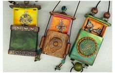 Have you been tempted to try making your own box type pendant? These matchbox amulets, as Tina Holden calls them look like lots of fun. Come see the tutorial links available at The Polymer Arts magazine blog, http://www.thepolymerarts.com/blog/10362