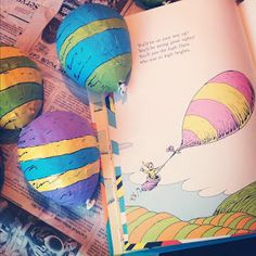 Oh the places you'll go activity.  Could also make balloons on paper if didn't want to paper mâché.