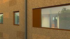 Pop Project Exterior Cork Facade Detail