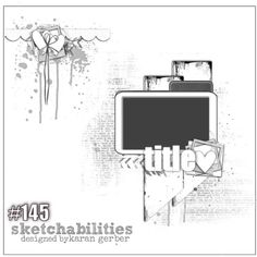 Scrapbooking layout for Sketchabilities DT: Love you Precious Mixed Media Scrapbooking, Digital Scrapbooking Layouts, Scrapbook Templates, Scrapbook Designs, Scrapbook Layout Sketches, Card Sketches, Scrapbook Cards, Sketch Inspiration, Card Making Inspiration