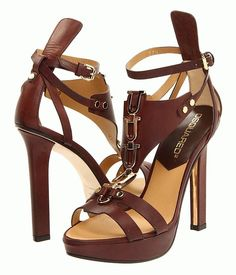 DSQUARED2 Sandal Gladiator Maine-Brick: The price on this item is $695