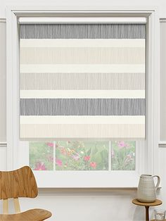 Choices Cardigan Stripe Stone Roller Blind from Blinds Bathroom Blinds, Kitchen Blinds, Roller Blinds, Window Treatments, Home Kitchens, Choices, Kitchen Ideas, New Homes, Home And Garden