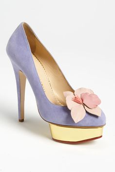 Charlotte Olympia - These heels are too high for me but the design is so elegant!