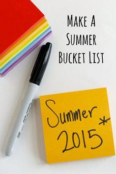 Make a Summer Bucket List with Kids