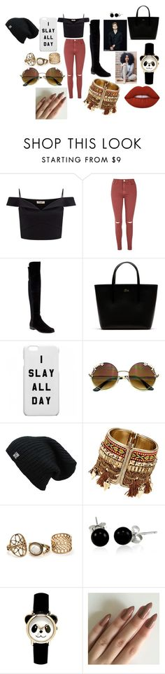 """""""ania + luke hemmings=perfect match=love"""" by aniapenguin on Polyvore featuring Lipsy, Glamorous, Stuart Weitzman, Lacoste, Bling Jewelry and Lime Crime"""