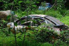 Deep in the woods of North Carolina lies a secret graveyard. This graveyard contains the burnout remains of Dale Earnhardt Jr.'s race cars. Nascar Race Cars, Old Race Cars, Bad To The Bone, Dale Earnhardt Jr, S Car, Amusement Park, Car Pictures, Tours, Expresso Coffee