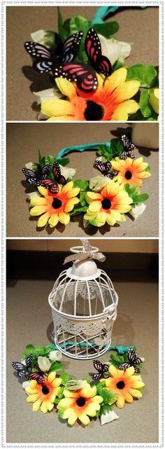 Toddler crown,spring crown, butterfly crown, power flower crown!