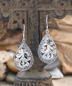 BeSheek Sterling Silver Filigree Teardrop Earrings | zulily