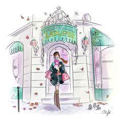 Illustration Girl, Girl Illustrations, Parisian, Concept Art, My Books, Digital Art, In This Moment, Girly Girl, Drawings