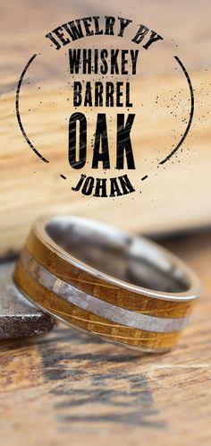 Show off your love of whiskey with a whiskey barrel wedding ring, made from a real Jack Daniels Oak Whiskey Barrel.
