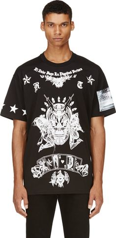 Givenchy: Black Skulls & Playing Cards T-Shirt