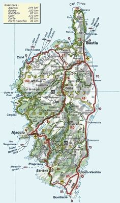 Relief map of Corsica France Travel in Corsica France Pinterest