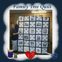 family tree quilting | ... Home Page >> Scrappy Lou's Scrapbooks >> Family Tree Quilt - Page 1