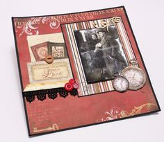 A scrapbook page using  Timepiece