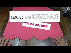 COMO HACER UN BAJO EN ONDAS: TIP DE COSTURA - YouTube