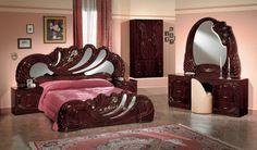 Modrest Vanity Mahogany Italian Classic Bedroom Set - VGACCVANITY-WAL