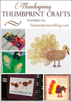 Thanksgiving Thumbprint Crafts