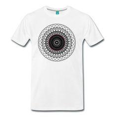 """Premium Männer Tshirt mit dem Motiv """"Die Zirkelblume - schwarz"""". Die Tshirtfarbe kannst Du dir selbst aussuchen."""