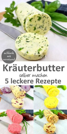 Frische Kräuterbutter selber machen – 5 leckere Rezepte – Low carb Rezepte … Make fresh herb butter yourself – 5 tasty recipes – Low carb recipes – slim mean Grilling Recipes, Meat Recipes, Low Carb Recipes, Dinner Recipes, Healthy Eating Tips, Healthy Snacks, Healthy Nutrition, Law Carb, Tasty