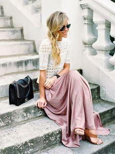 Lace & blush.