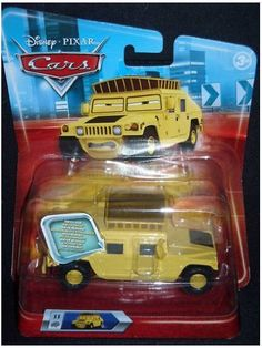 Disney / Pixar CARS Movie 1:55 Die Cast Car Oversized Vehicle Sven the Hummer by Mattle. $15.66. Disney / Pixar CARS Movie 1:55 Die Cast Car Oversized Vehicle. Name: Hummer Sven Manufacturer: Mattel Series: Race-O-Rama Release Date: June 2009 For ages: 4 and up Details (Description): These diecast cars are smokin' hot! Collect your favorites from the cast of CARS with these approximately 1:55 scale (Hot Wheels size) die-cast action-sized vehicles! Collectors are scooping th...