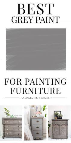BEST Grey Furniture Paint Painted Furniture For Sale, Grey Furniture, Country Furniture, Paint Furniture, Repurposed Furniture, Furniture Making, Furniture Makeover, Furniture Refinishing, Diy Furniture Tutorials