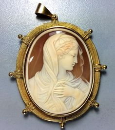 Rare Cameo of  Our Lady (Madonna)