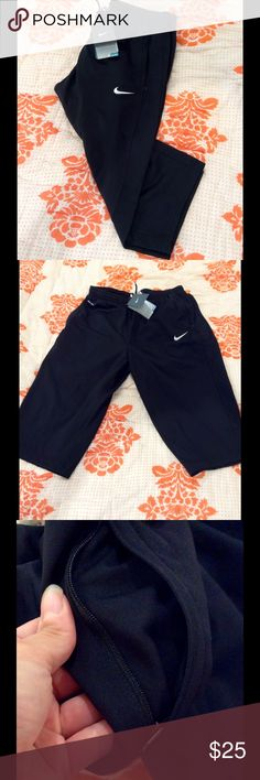 NWT Nike Dri Fit Soccer Capris New with tags capris are official TCU soccer  capris but can be used for anything extremely comfortable has mesh vents in back and zipper pockets Nike Pants Capris