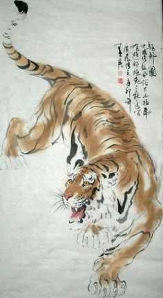 Trendy Tattoo Traditional Tiger Chinese Painting Trendy Tattoo Traditional Tiger Chinese PaYou can find Chinese art and . Tiger Drawing, Tiger Painting, Ink Painting, Painting Tattoo, Watercolor Tiger, Japanese Painting, Chinese Painting, Japanese Tiger Tattoo, Japanese Tattoos