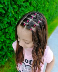 Easy Toddler Hairstyles, Kids Curly Hairstyles, Baby Girl Hairstyles, Princess Hairstyles, Creative Hairstyles, Braided Hairstyles, Girl Hair Dos, Hair Patterns, Hair Color Balayage