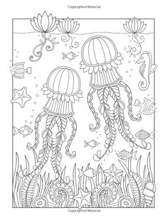 Tropical Ocean: A beautiful coloring book for adults and kids (9781548681128): Edwina Mc Namee: Books
