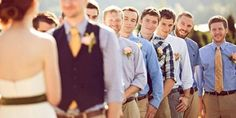 New wedding trend: Mismatched groomsmen suits -  I wouldn't mind that so much... It'll throw guests a curve-ball and it'll help personalize the wedding better!