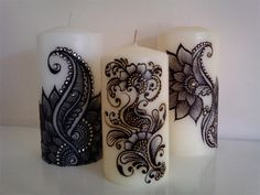Mendhi (Henna) art candle