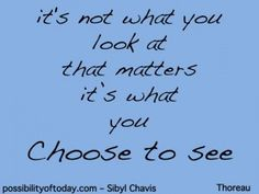 What you choose to see