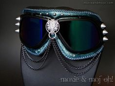 "Burning Man Goggles: ""Lobo Loco"" ~ Anti-Dust Goggles that work great for Burning Man! by MoxieandMojoFashion on Etsy"
