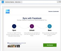 American Express >> Facebook App >> A financial company doing it right on Facebook.  The Amex Sync and Community Giving tabs are two standout features for AmEx's page. The Sync feature lets fans sync their card to Facebook and unlock offers they can share directly with friends. -Todd Wilson, Associate Principal - Global Accounts How To Become, How To Get, Do It Right, Poker, Fans, Texas, Community, Social Media, Let It Be