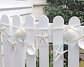 Beach Decor - Starfish and Seashell Garland - 6ft. - Beach Wedding Decor, Beach Garland, Christmas Beach Garland, Starfish Garland