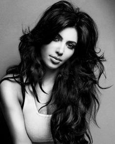 kimkardashian, messy hair, kim kardashian, black hair, makeup, long hair, beauti, big hair, hair looks