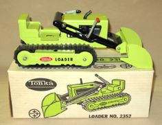 Tonka Lime Green #2352 Track Loader in Closed Box